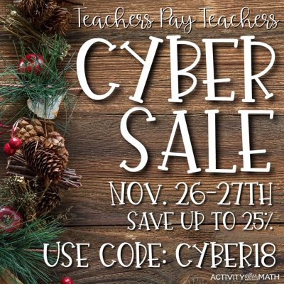 TPT Cyber Sale and TWO Giveaways!