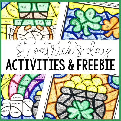 St Patrick's Day Activities and a Freebie!